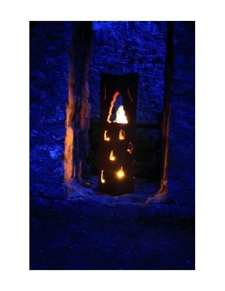 Feuersäulen Rost Säule Feuerzauber, Höhe 140 cm Säule Feuerzauber aus Edelrost, zur Beleuchtung Diese Säule kann mit Teelichter