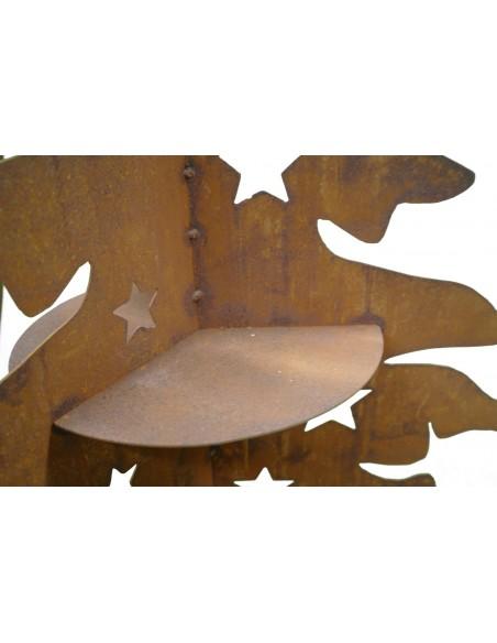 3 teilige Tanne mit Stenrenausschnitten und Ablagefächern