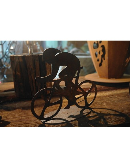 Rennrad Fahrer Deko Figur Metall