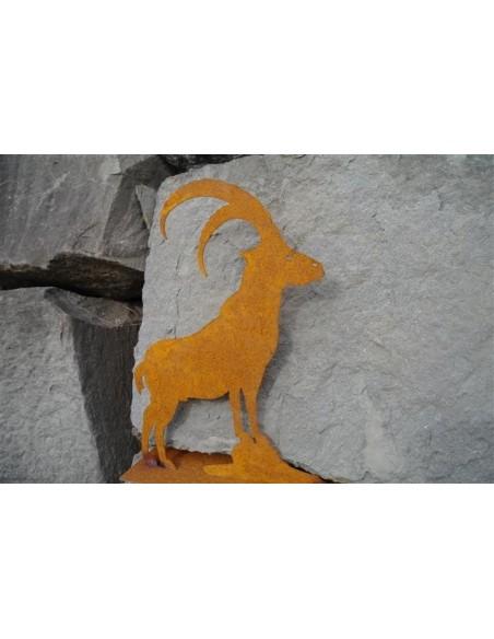 Allgäu Deko Steinbock 60 cm groß zum Stellen H: 60 cm B: 46 cm mit Querstäben zum stellen