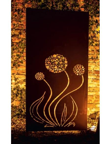 Sichtschutzwand Metall Blumen