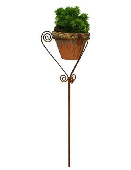 Metall Topfhalter -Florenz- auf Stab 120 cm hoch
