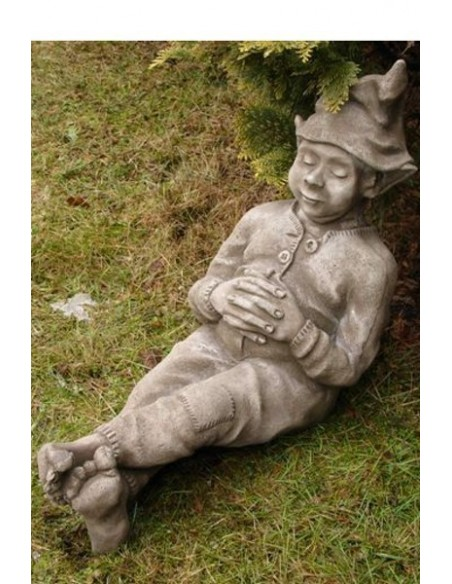 Steinfigur Wichtel schlafend 44 cm hoch