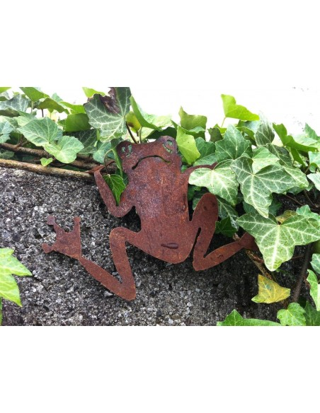 Gartenteich Rost Frosch zum Einhängen netter kleiner Laubrosch zum Einhängen an eine Wand. Ideal für Teich und Garten, aber auch