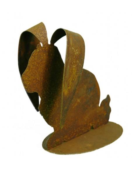 Osterhase mit langen Ohren - Metallfigur