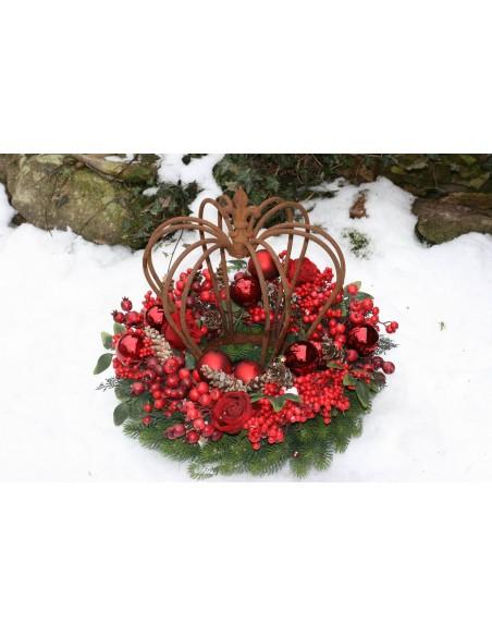 Gartendeko Rost Krone im Winter