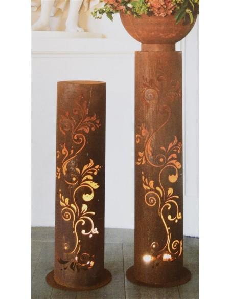 Deko Säule Barock zum Beleuchten - individuelle Gartendeko für den Hauseingang