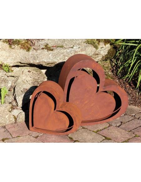 Deko Herz Metall rostig als Gartendeko Rost