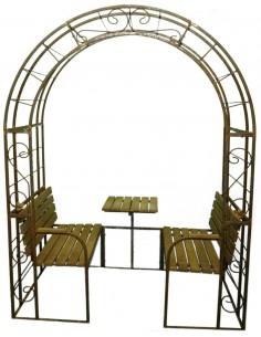 Edelrost Tisch Stuhl und Bank