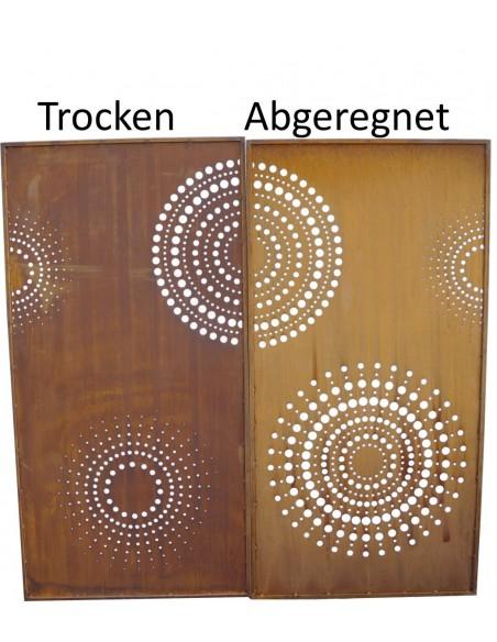 DOT Paravent 1 Sichtschutzwand mit Kreisen u. großen Punkten 200 cm hoch - moderner