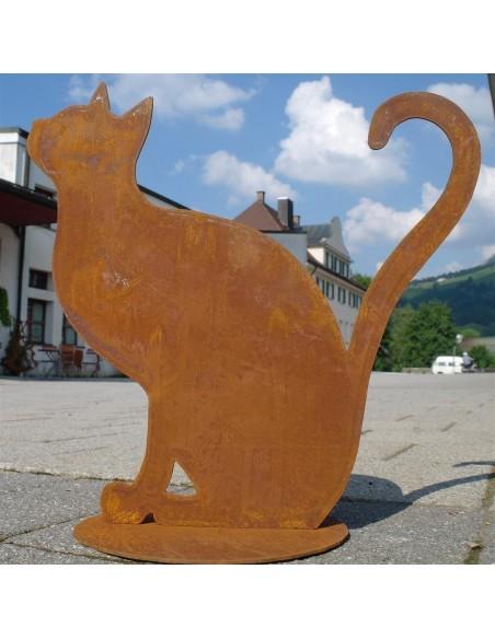 Edelrost Gartendeko Katze