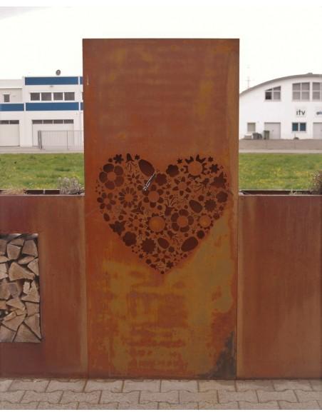 Sichtschutz Traumherz, 80 x 180 cm Edelrost