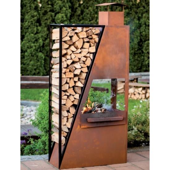 Grillstellen + große Gartengrills Kaminofen Barbecue Kaminofen Barbecue Maße: Höhe: 190cm; Breite: 85cm; Tiefe: 35cm