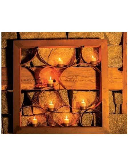 Kerzenwand Romantica - Raumteiler aus Edelrost 160 cm hoch Sichtschutzwände und Paravents