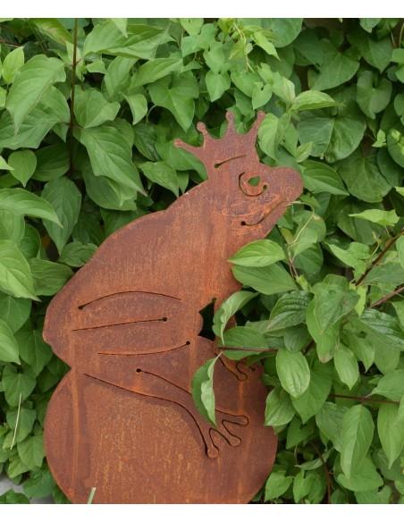 Froschkönig Edelrost Gartenfigur