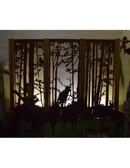 """Wild Paravent """"Fuchs und Eule"""" , Gartenparavent im Winter, Paravent filigran, Deko für den Garten, Detail Fuchs"""
