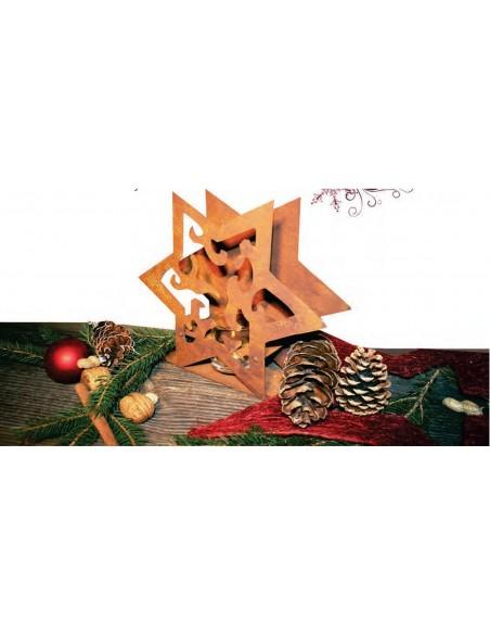 Deko Tischleuchte Stern Madera aus Edelrost
