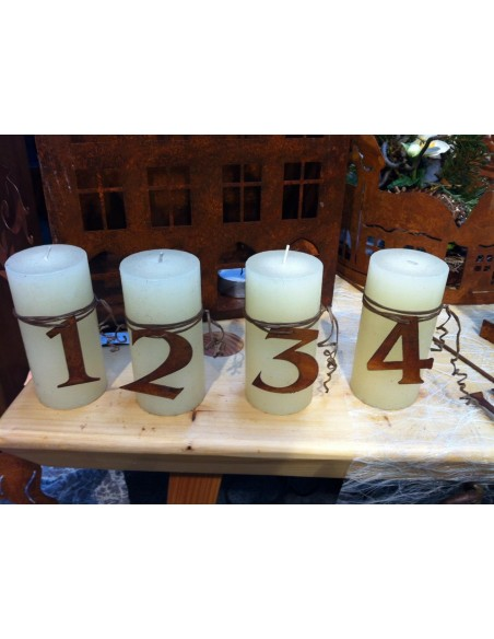 Kerzen dekorieren für Advent