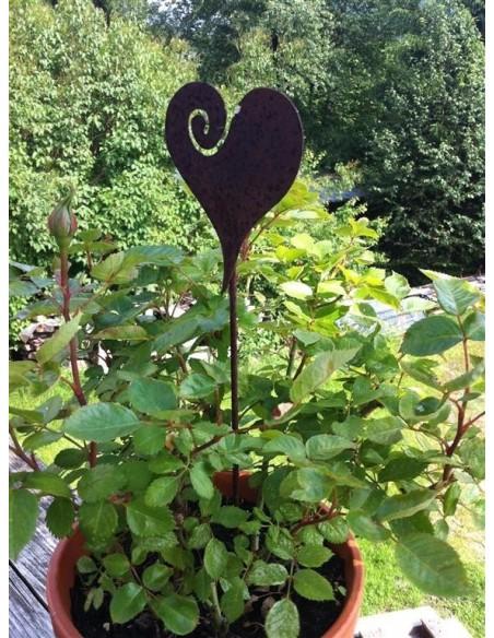 Blumentopf Gartenstecker Herz
