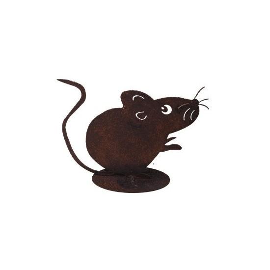 Dekofigur rostige Maus