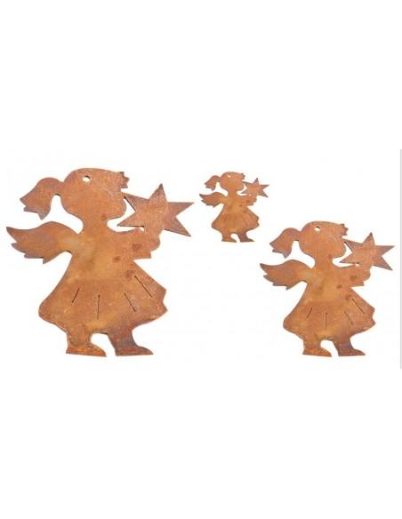 Christbaumschmuck Engelchen mit Stern 3, klein, 8 cm hoch