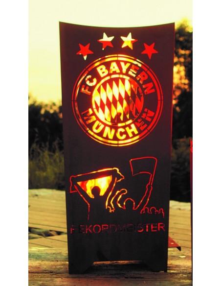 "Metall Feuerschale XXL Fanartikel FC Bayern Feuerkorb ""Rekordmeister"" FCB Feuerkorb"