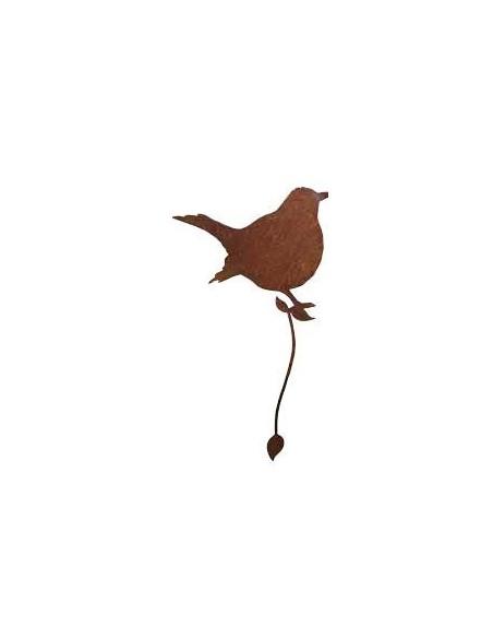 Astvogel zum Umwickeln, dicke Amsel Edelrost Rostvogel rostiger Vogel zur Zaundeko