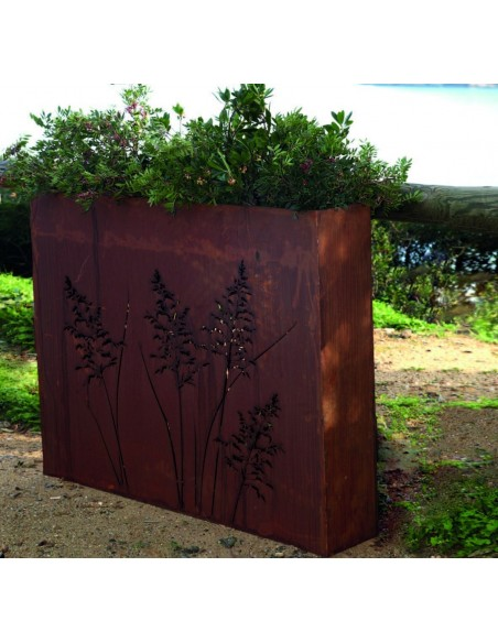 Edelrost Sichtschutz halbhoch Gras Raumteiler Bepflanzbar Pflanztopf für Draußen kaufen