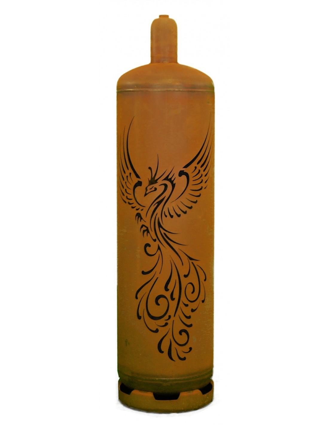 Sehr Stylische Feuertonne Gasflasche Mit Phonix Design
