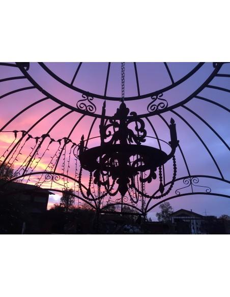 Edelrost Kronleuchter 3D zum Aufhängen mit Ablage, H 60 cm, B 64 cm KL3D60 kaufen Gartendeko