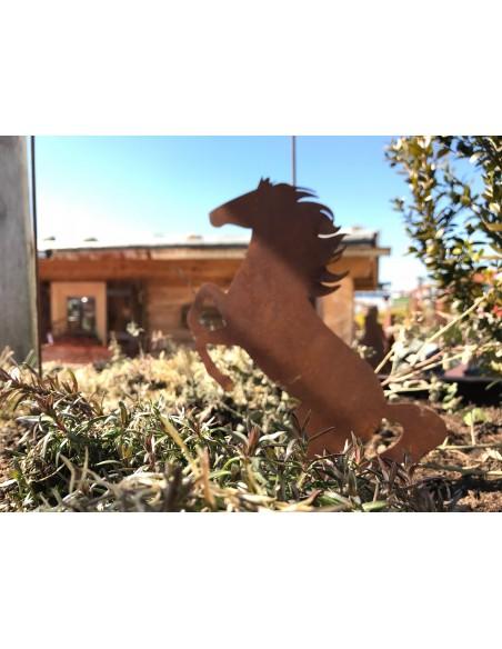 steigendes Edelrost Pferd Fridolin - Deko mit Rost - Ferarilike Deco