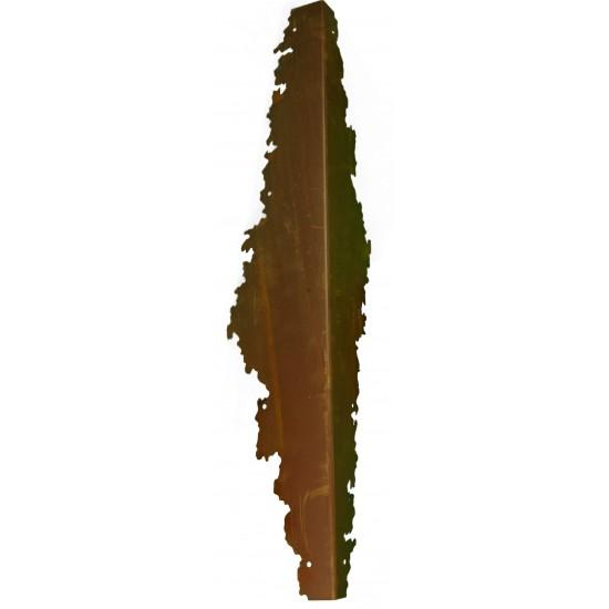 Beschläge für Säulenständer -Ramses- Edelrost rostig Metall Eckbeschlag
