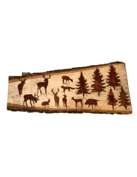 Mini Basteltiere aus Metall Hirsche Rehe und Bäume Edelrost Weihnachtsdeko