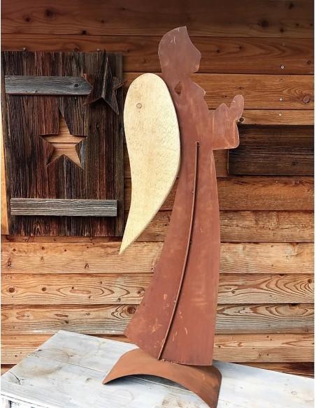 Engelfiguren für den Garten Weihnachtsdeko Rost Metall