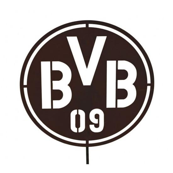 Edelrost Gartenstecker Mit Bvb Logo Als Fanartikel Kaufen