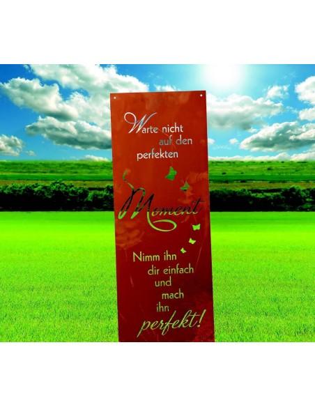 Spruch Warte nicht auf den perfekten Moment, nimm Ihn Dir einfach und mach in perfekt.
