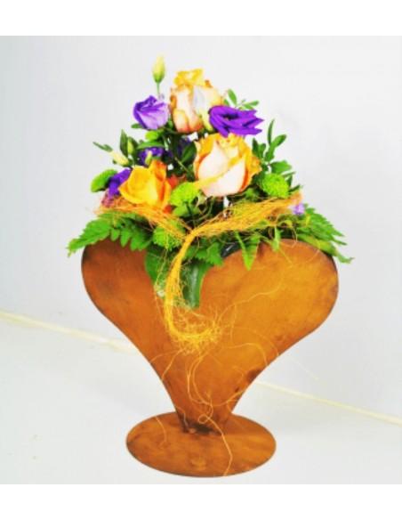 Edelrost Deko Herz Metall zum Bepflanzen - Pflanzherz für Hochzeit