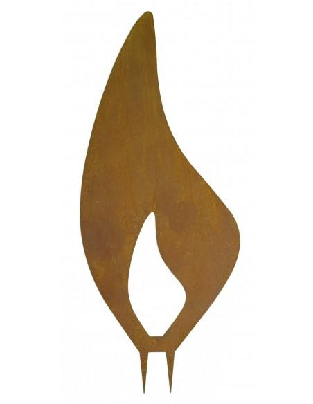 Edelrost Flamme - Rostflammen aus Metall - Metall Flamme mit Dorn