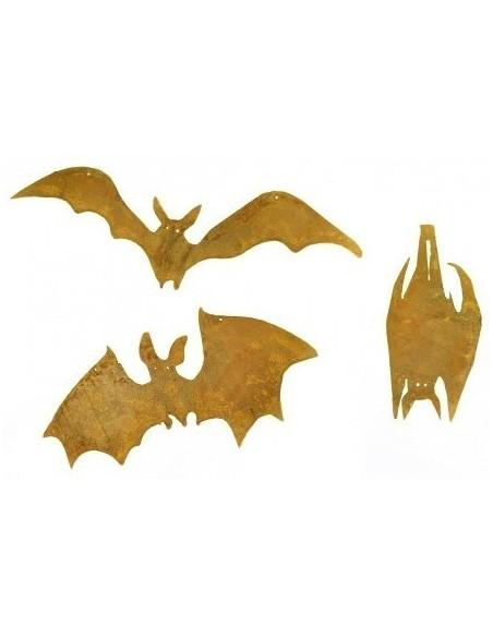 Edelrost Fledermäuse verschiedene Varianten zum Hängen, Gruppenbild