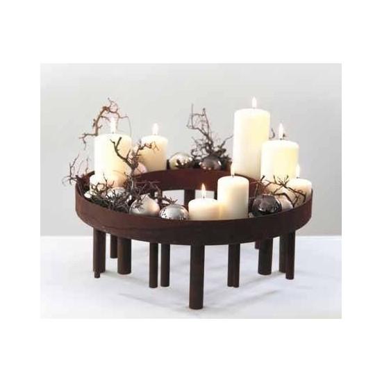 Kerzenleuchter füt Tischdeko Kerzentablet Metall aus Rost