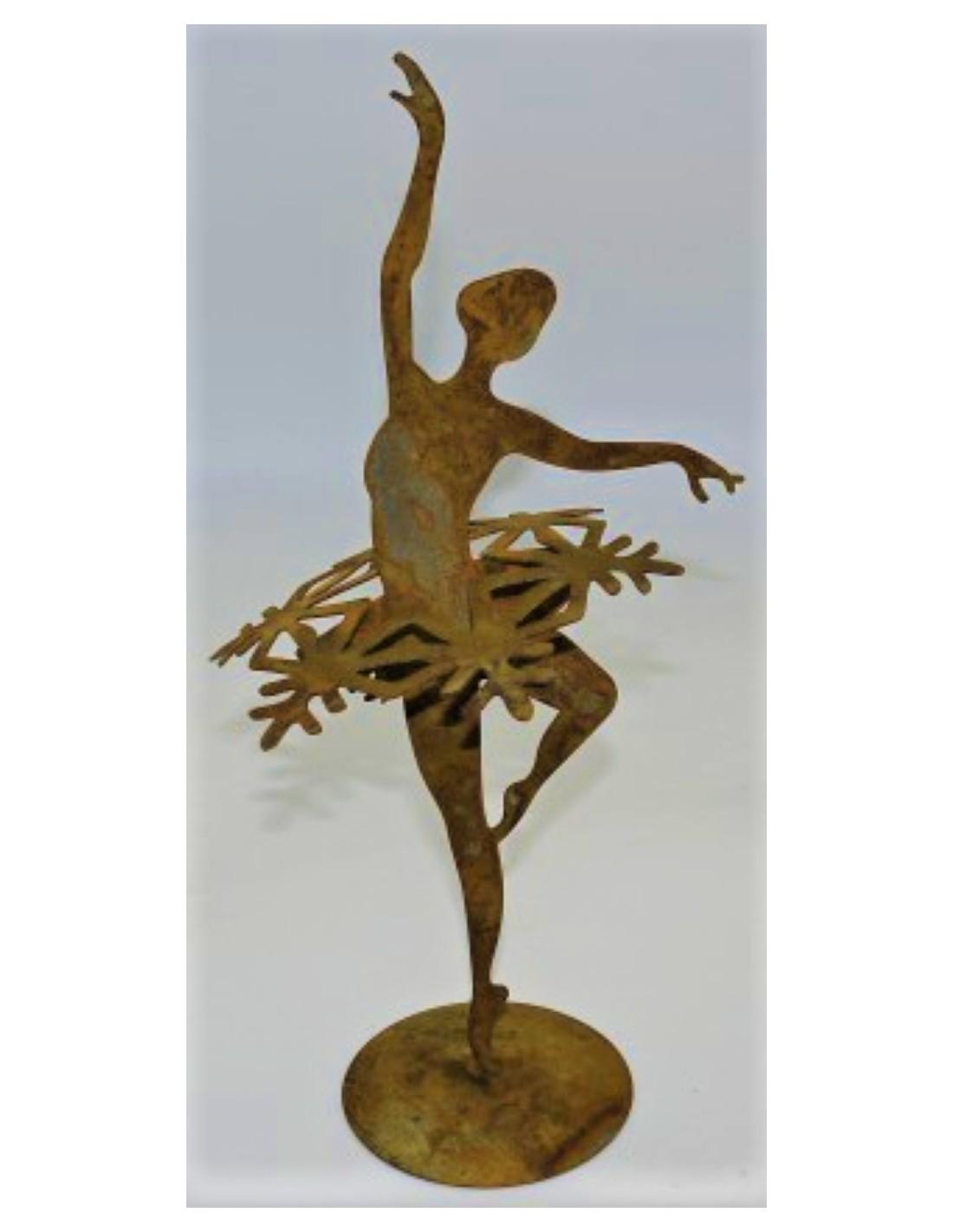 Edelrost Gartenstecker Tänzerin Ballerina gross  Frau Mensch