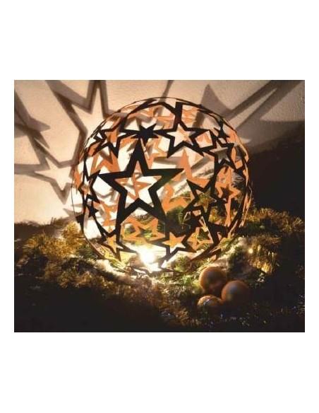 Sterne - Weihnachtstern Deko Sternkugel aus Edelrost - offene Sterne - mittel Ø 40 cm Sternkugel aus Edelrost mittel - offene St