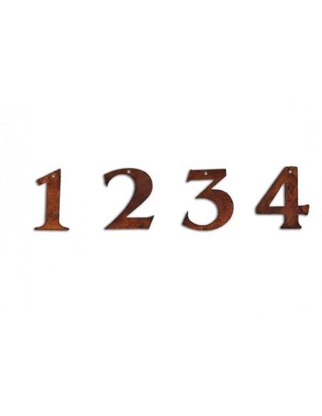 1 2 3 4 Advent Zahlen aus Metall