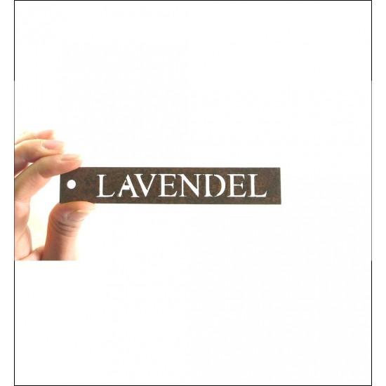 Kräuterschild Lavendel zum basteln Kräuterschilder aus Metall und Rost