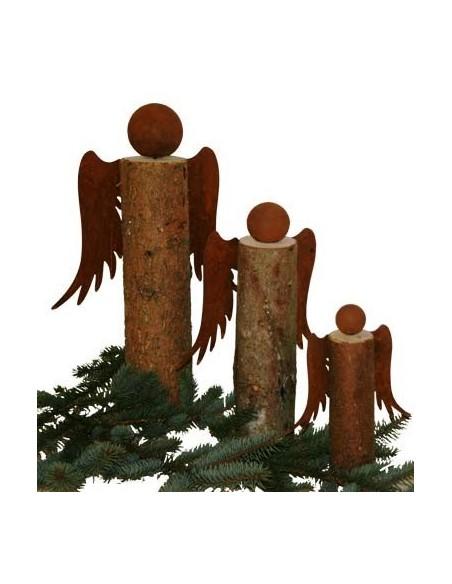 Kaminholz Engel Bastelset - Gr. 0 - Höhe 15 cm - zum Holzengel basteln 3-teilig- Set Mit