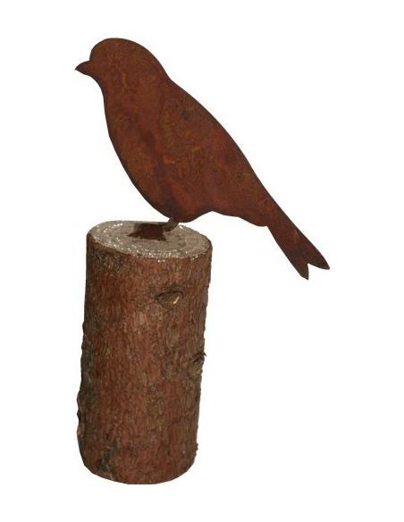 Kantenhocker Spatz aus Metall für Bäume