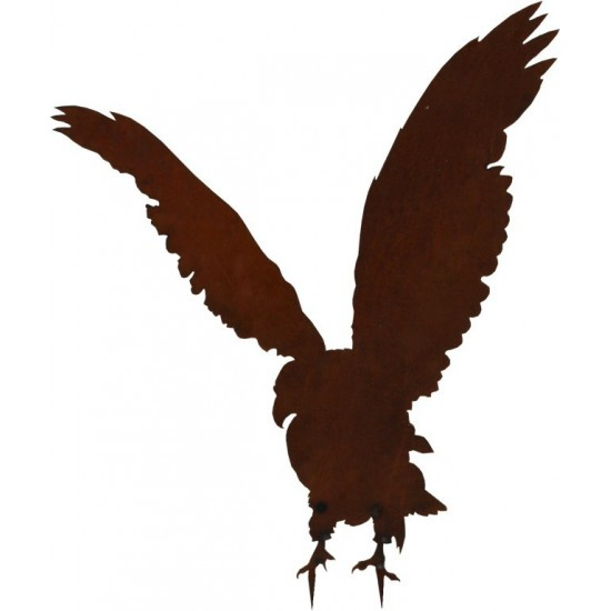 Tiere mit Baumspieß Gartenfigur Adler aus Metall für individuelle Befestigung  - 75 cm hoch Schöne Dekofigur Adler aus Metall al