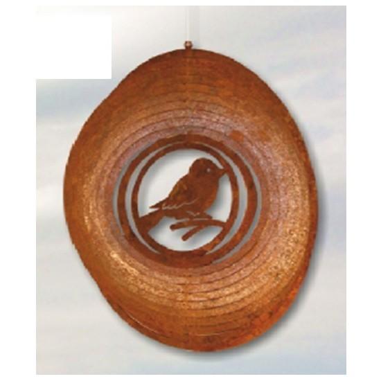 Windspiel Spirale mit Spatz D: 18 cm...