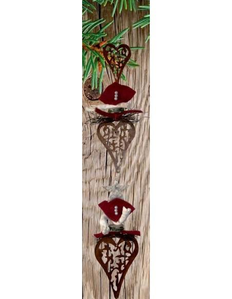 Ketten fädeln - Bastelidee mit Metall Herz