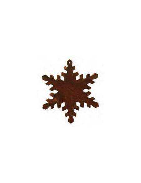 weihnachtliche Sternenkette aus rostigem Metall